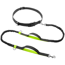 Retractable Hands Free Dog Leash with Dual Bungees for Running Walking Pet Reflective Up to 150 lbs Medium Large Dogs