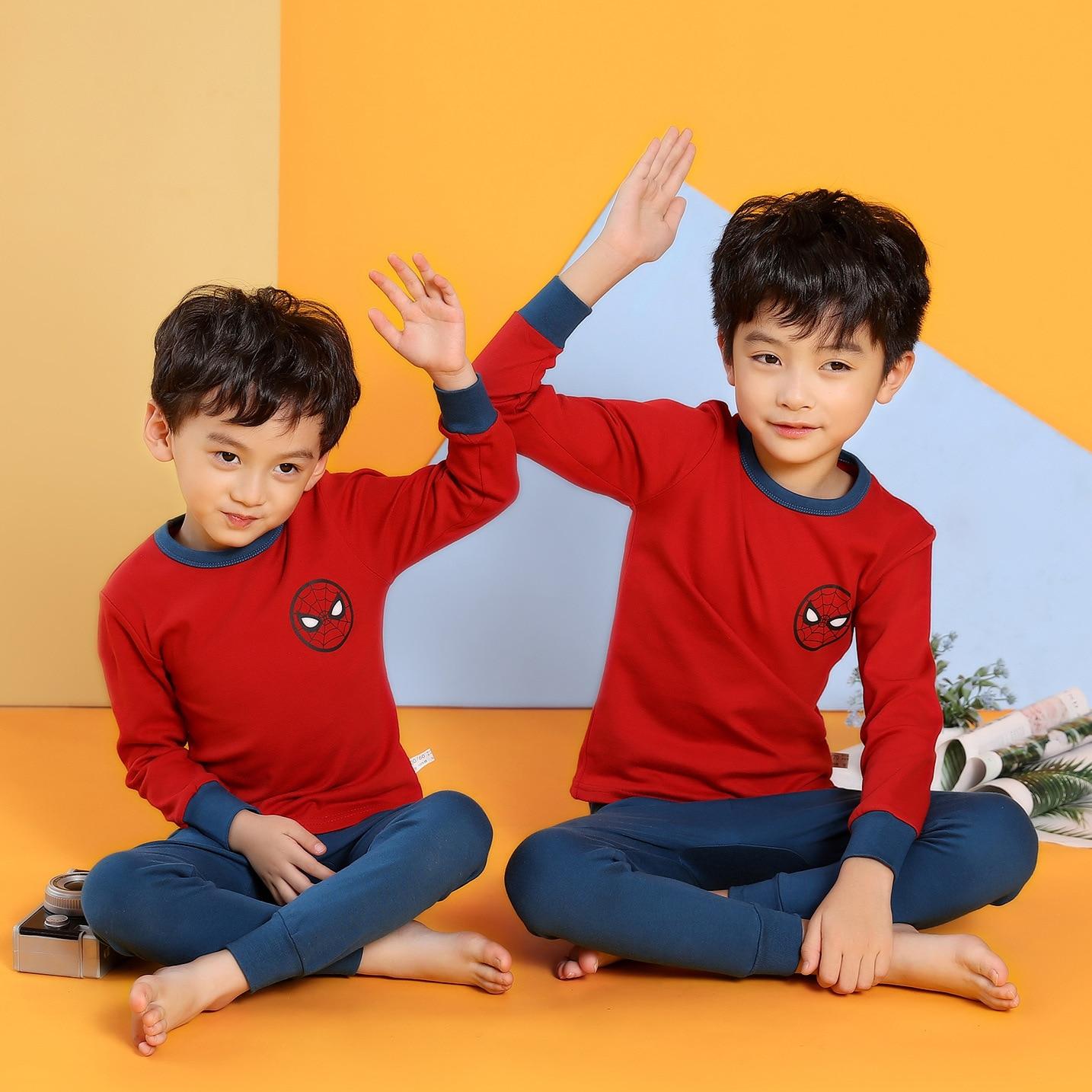 Christmas Pajamas Nightwear Clothes-Sets Sleepwear Girls Teens Boys Children Cartoon