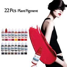 22 Colors Set Eyebrown Microblading Pigment Permanent Makeup Eyebrow Permanent Lipstick Tattoo Ink Set Beauty Pigmento supplies