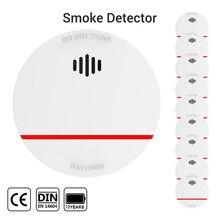 CPVan SM03 كاشف الدخان 10 سنوات عمر البطارية مستشعر الحماية من الحرائق EN14604 CE معتمد 85dB كاشف الدخان