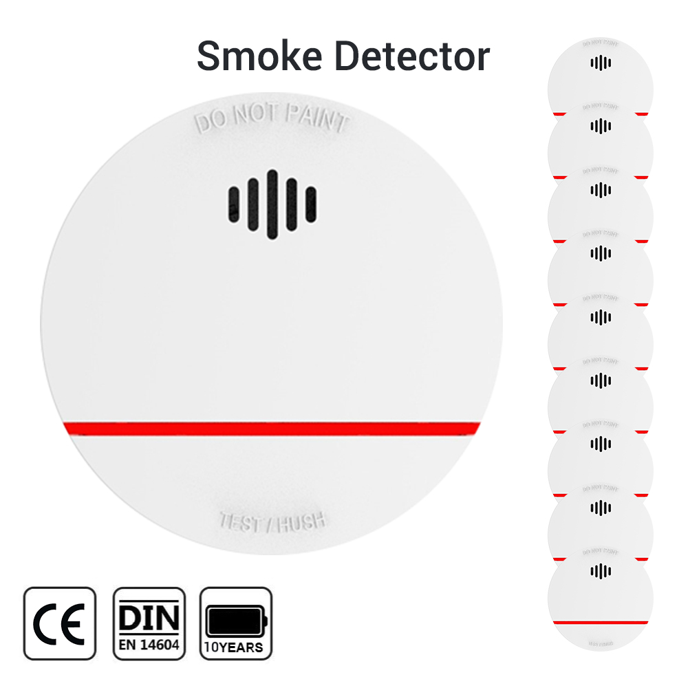CPVan SM03 Smoke Detector 10 Years Battery Life Fire Protection Sensor Detector EN14604 CE Certified 85dB Volume Detector Smoke