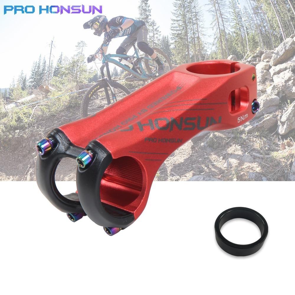 31.8*80mm HONSUN XC MTB Mountain Road Bike handlebar stems Bicycle Bar 7° Stem