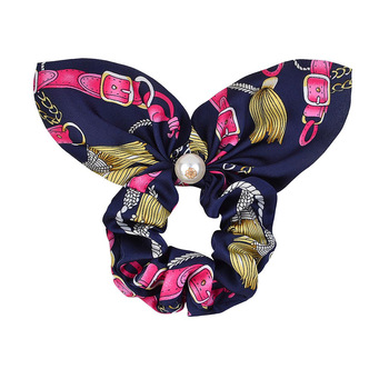 New Chiffon Bowknot Elastic Hair Bands For Women Girls Solid Color Scrunchies Headband Hair Ties Ponytail Holder Hair Accessorie 32