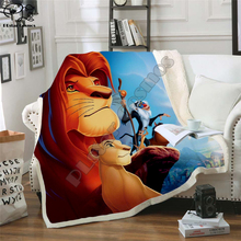 Kids Anime Lion King Simba 3D Blanket Fleece Cartoon Bendy Print Children Warm Bed Throw Blanket newborn bayby Blanket style 009