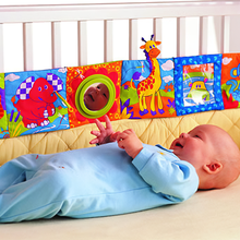 Toys Book Baby Soft Cloth for Children Animal Bed-Toy Cot Around Plush Early-Educational