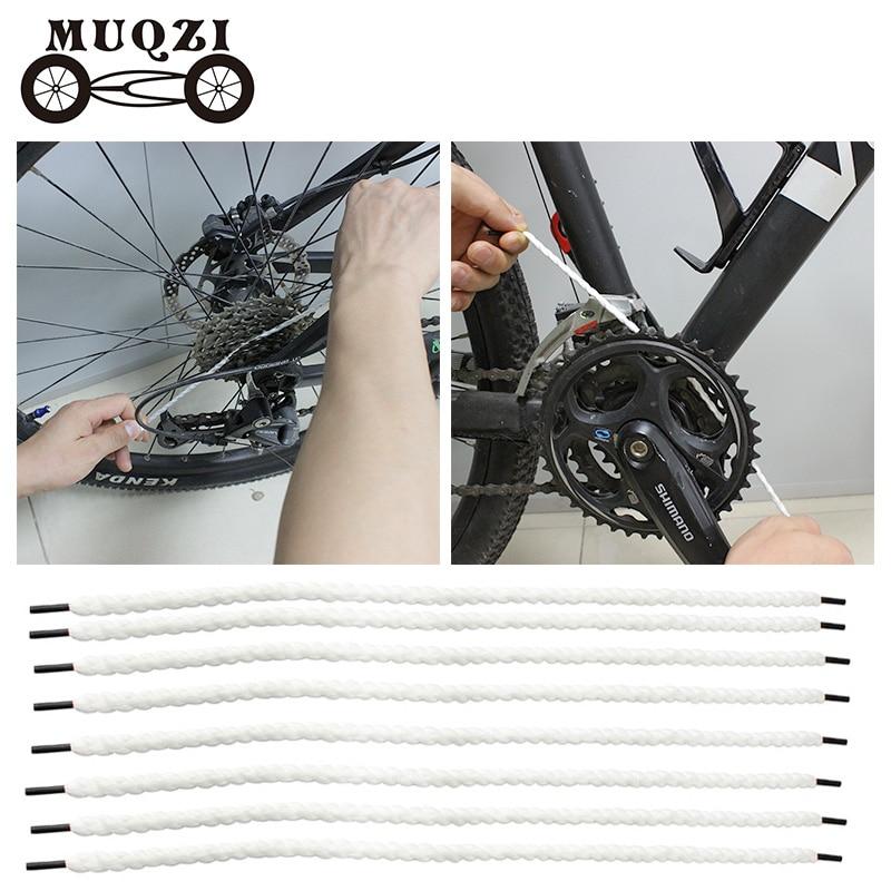 Clamp Buckles Black 8 Pcs Bike Bicycle Brake Cable Guide Seat Frame Tubing