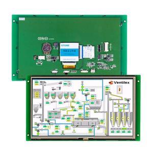 10,1-дюймовый промышленный контроллер сенсорного экрана LCD с последовательным интерфейсом 100 шт