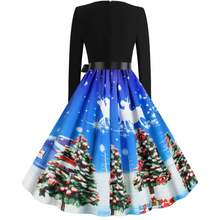 Винтаж Рождество вечерние одежда в стиле ретро модные Стиль