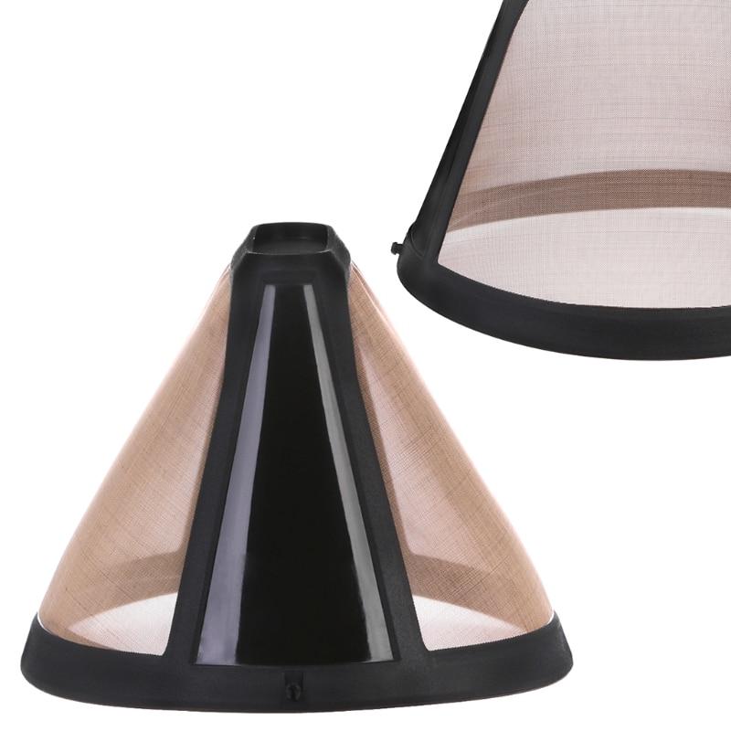 Нержавеющая сталь конусной формы кофе фильтр моющиеся многоразовые Многоразовые корзины сетки