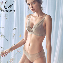 CINOON 2019 High-end Brand Romantic Temptation Bra Set Women