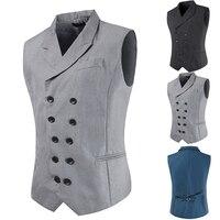 Suit Vest Men Formal Dress Vest Colete Masculino Herringbone Gilet Fitness Sleeveless Jacket Wedding Waistcoat Men Clothes Top