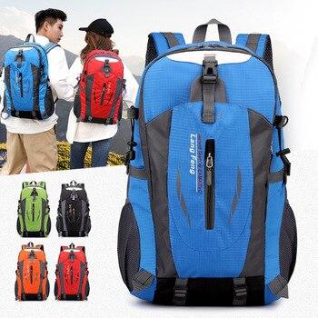 цена 40L Outdoor Bags Sports Travel Mountaineering Backpack Camping Hiking Trekking Rucksack Travel Waterproof Bike Shoulder Bags онлайн в 2017 году