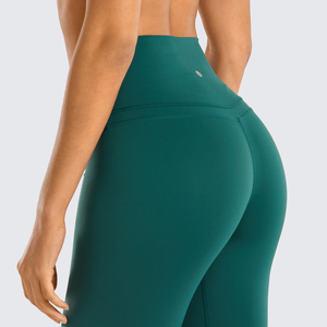 Image 5 - SYROKAN Women Naked Feeling High Waist Goddess Extra Long Over The Heel Yoga Legging with Pocket  32 inches