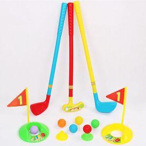 Enfants ensemble de Golf en plastique Mini Putter Golf Club jouet enfant drôle Sports en plein air exercice Parent-enfant jeu
