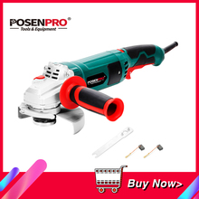 Electric Angle Grinder 1050W 125mm Variable Speed 3000 10500RPM Toolless Guard for Cutting Grinding Metal or Stone Work