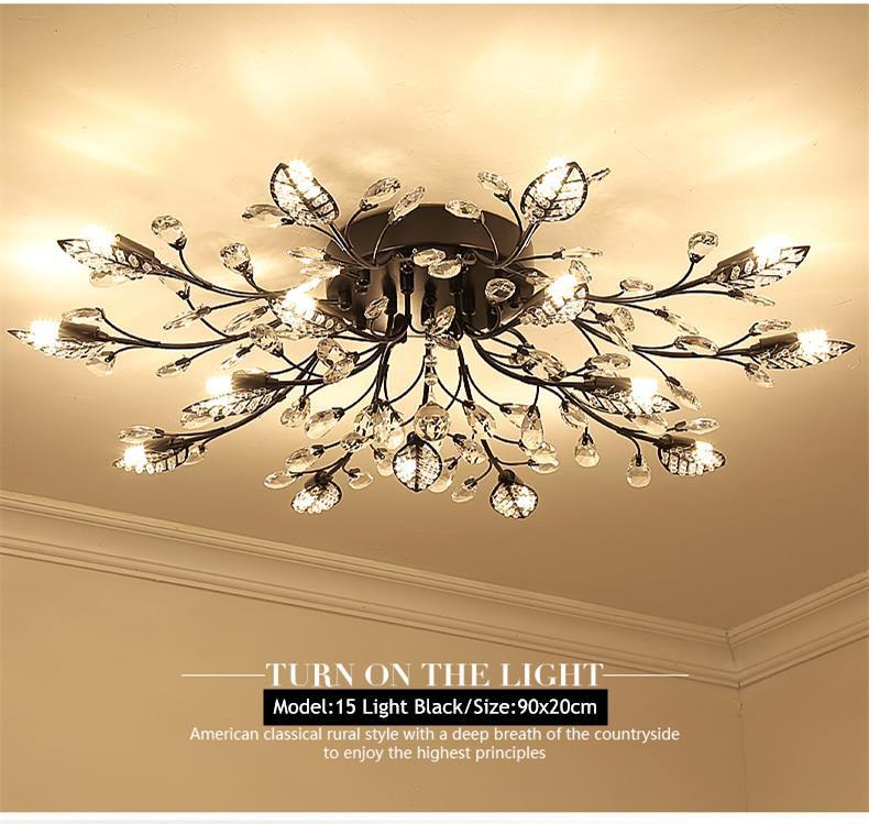 H7182bde9c9b64160be23d3ef015e03f35 TRAZOS New item fancy ceiling light LED Crystal ceiling lamp modern lamps for living room lights,AC110-240V DIY Crystal lighting