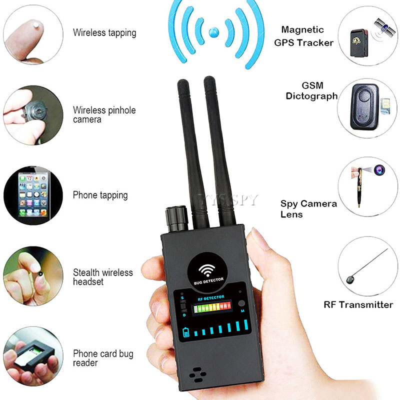 G528B Hidden <font><b>Camera</b></font> Detector Dual Antenna RF Signal <font><b>Wifi</b></font> Secret Covert Cam GSM Mobile Audio GPS Tracker <font><b>Mini</b></font> <font><b>Spy</b></font> Bug Scan Finder image
