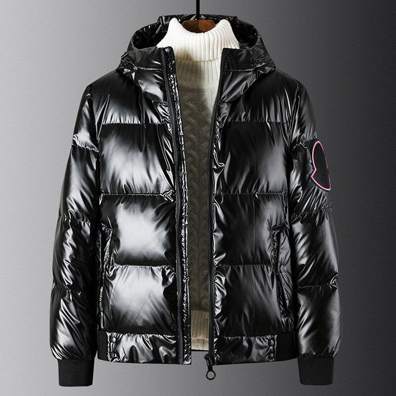 2019 Monclair Faux Leather Hoodies Jacket Thick Warm Outerwear Winterjacke Herren Male Parkas Erkek Montlar Erkek Mont M-5XL