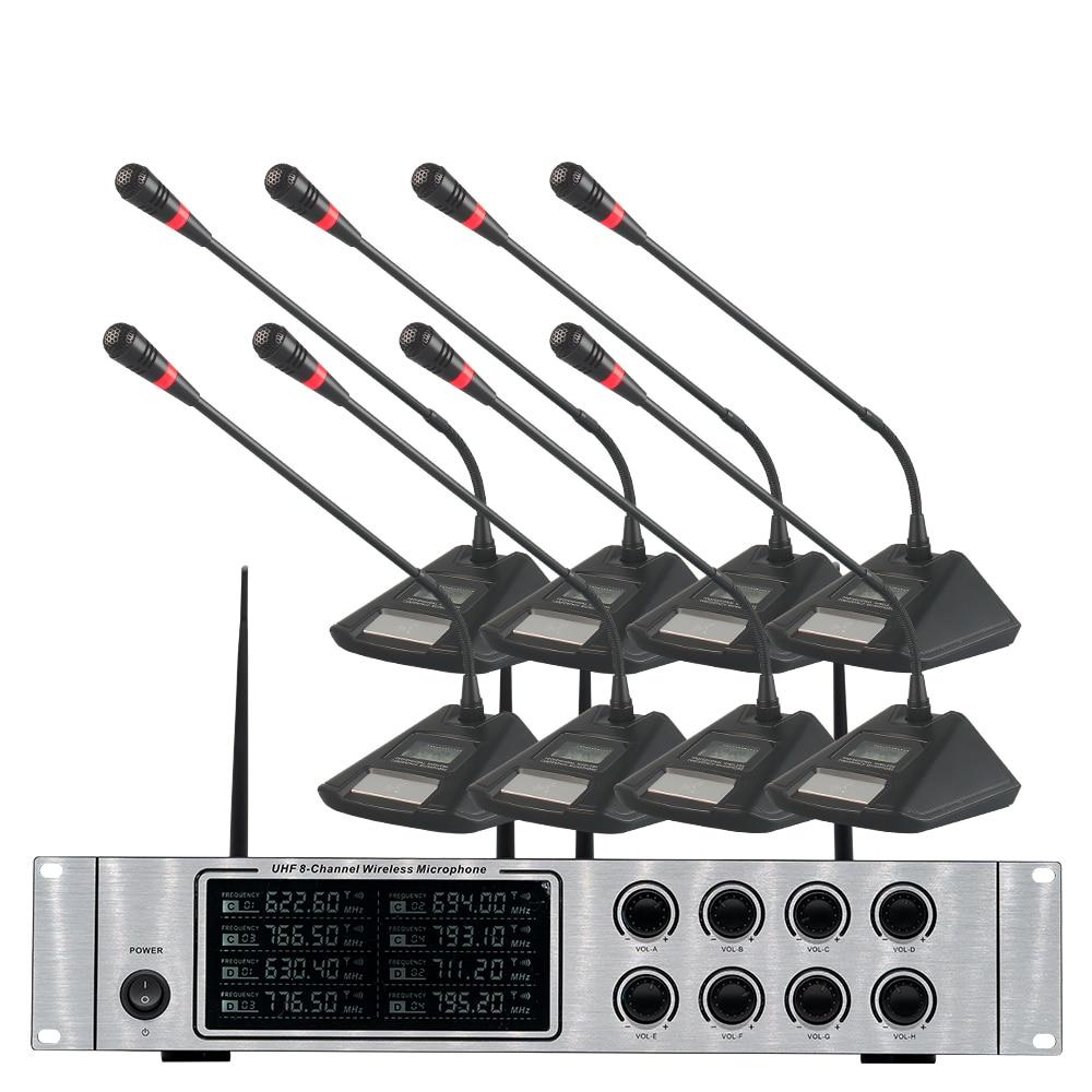 Wireless mikrofon system professional UHF kanal dynamische mikrofon 8 kanal bühne leistung lavalier mikrofon - 3