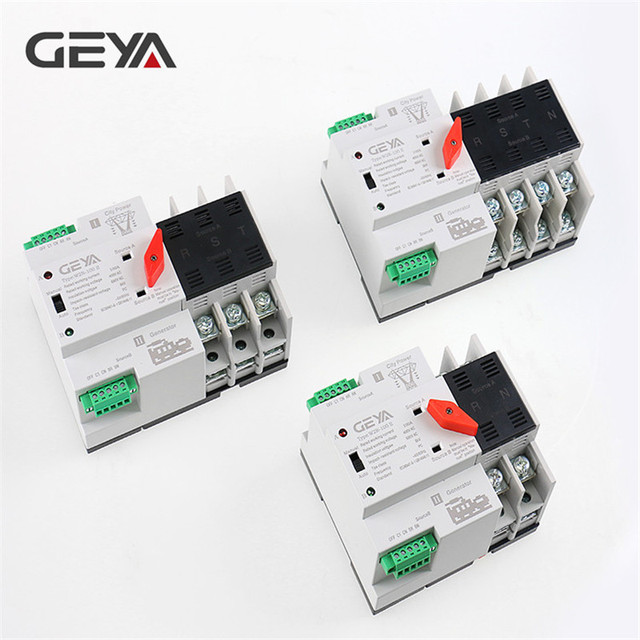 Free Shipping GEYA Din Rail 110V 220V PC Automatic Transfer Switch 63A 100A Household Power Transfer Switch 50/60Hz