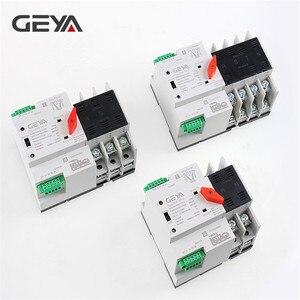 Image 1 - Geya din interruptor transferência de potência, frete grátis, 110v 220v, pc, interruptor de transferência automática 63a 100a, uso doméstico, 50/60hz
