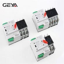 Ücretsiz kargo GEYA Din ray 110V 220V PC otomatik Transfer anahtarı 63A 100A ev güç Transfer anahtarı 50/60Hz