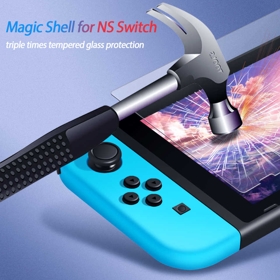 Vidro protetor para nintendo switch, vidro temperado protetor de tela para nintendo switch ns, acessórios de proteção