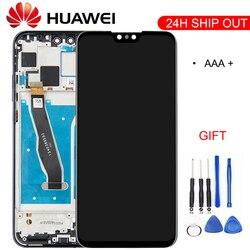 100% оригинальный 6,5-дюймовый Полный ЖК-дисплей  дигитайзер сенсорного экрана в сборе для Huawei Y9 2019, ЖК-экран с дигитайзером на сенсорном экран...