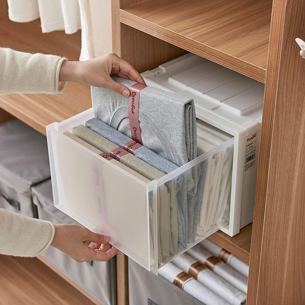 10Pcs Shirt Folding Board Transparent Durable Plastic T-Shirts Folder Clothes Sweater Laundry Flipfold Closet Organizer