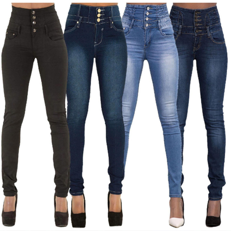 2020 Lady's Jeans WOMAIL Delicate Fashion New Slim Summer Women Ladies Skinny Solid Color Denim Stretch Sexy Pants