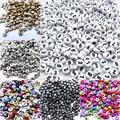 Акриловые бусины с цифрами, 6 стилей, 200 шт., 7 мм, круглые бусины-разделители для шармов DIY, браслетов, ожерелий, ювелирных изделий