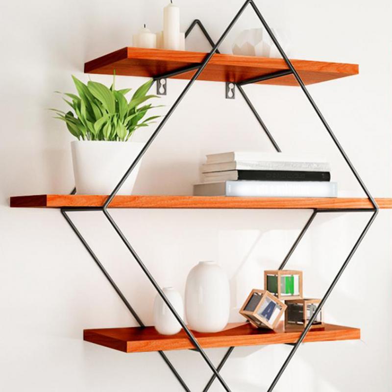 Ledge Floating Wall Shelf Books Rack Organizer Bracket Storage Holder Living Room Modern Home Decor Wooden Mount Office Support