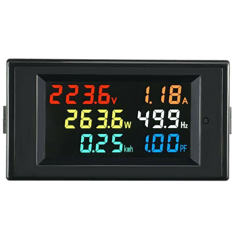 6 In 1 AC Monitor D69-2058 AC Digital Voltage And Current Power Frequency Factor Electricity Meter Multi-Function Power Monitor