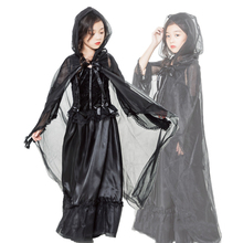 Cosplay Costume Dress Party Clothes Halloween Vampire Black Witch Girls Gothic Children