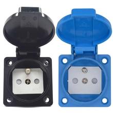 Черный синий франч Германии промышленности безопасности выход 16A 250 В IP54 CE Крышка Водонепроницаемый dusrproof разъем питания AC разъем