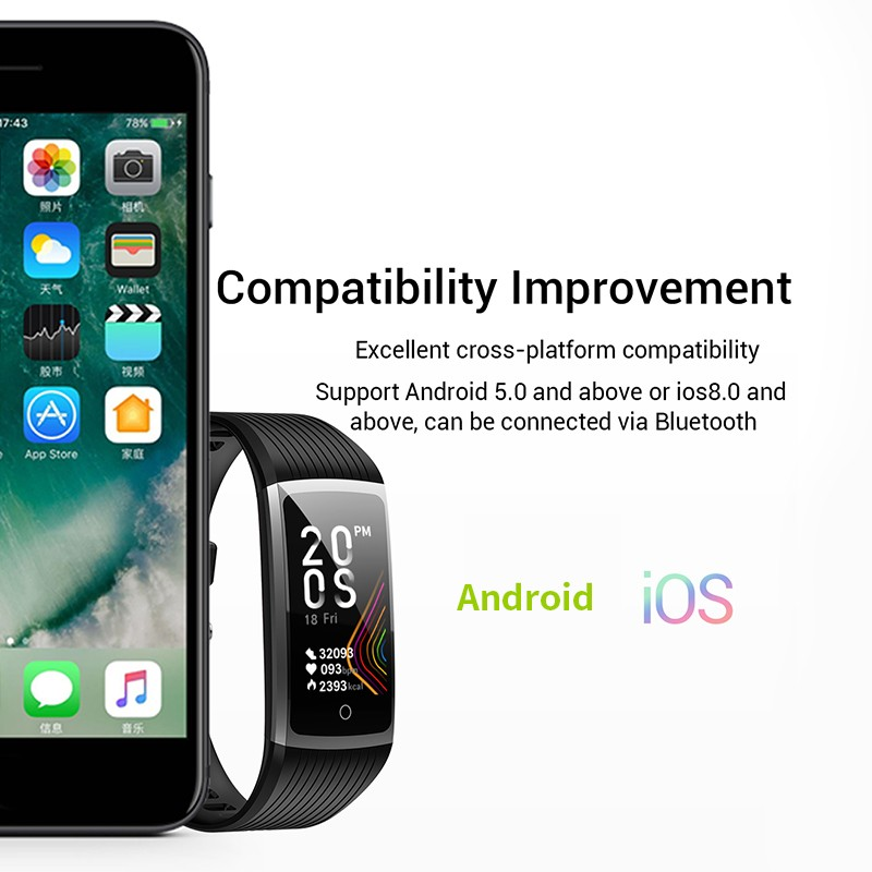 H7183ae6601284e569f6377b0c254285fX R12 Smart Band Bracelet Fitness Bracelet with Pressure Measurement Health Wristband Pedometer Heart Rate Monitor Cardio Bracelet