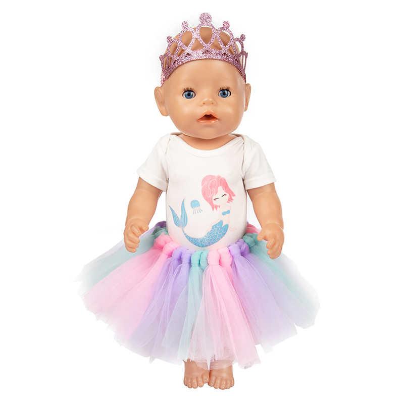 Uayasily Vestido de la Manera para Las 18 Pulgadas de Am/érica y Regalo 43 Cm Baby Born mu/ñeca Ropa Accesorios Generaci/ón cumplea/ños de la Muchacha