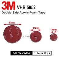 10 stücke Doppelseitige 3M 3M VHB 5952 15mm Runde Selbst Adhesive Sticker Sticky Pad Montage band für Dash Cam/GoPro