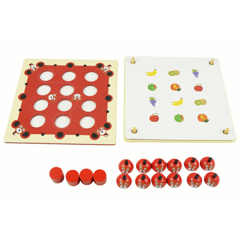 Hot-Wood Puzzles For Children Wooden Memory Game Early Learning Educational Toys Kids Intellectual Toy Fun Board Games Novelty G