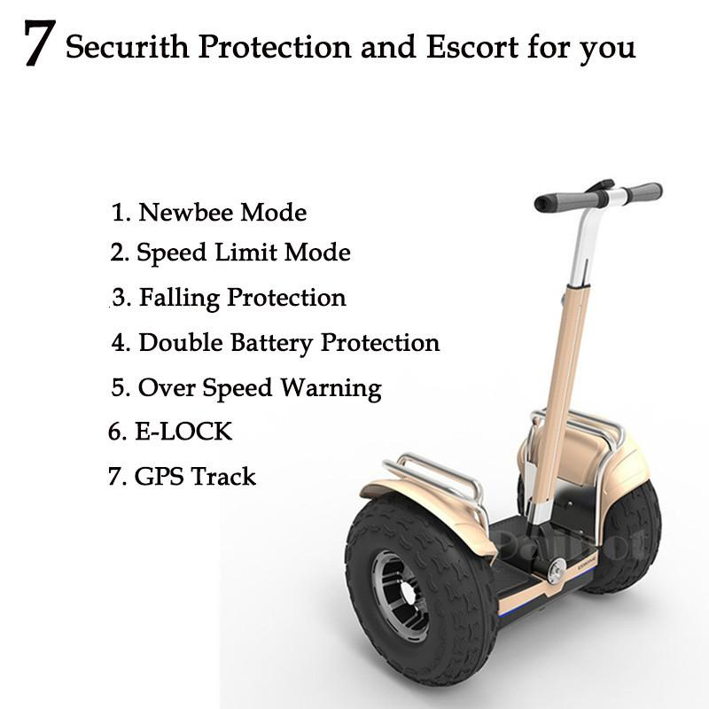 New Off Road Electric Scooter Personal Golf Carts 19 Inch Self Balancing Hoverboard 2400W Electric Golf Scooter With GPSAPP (1)