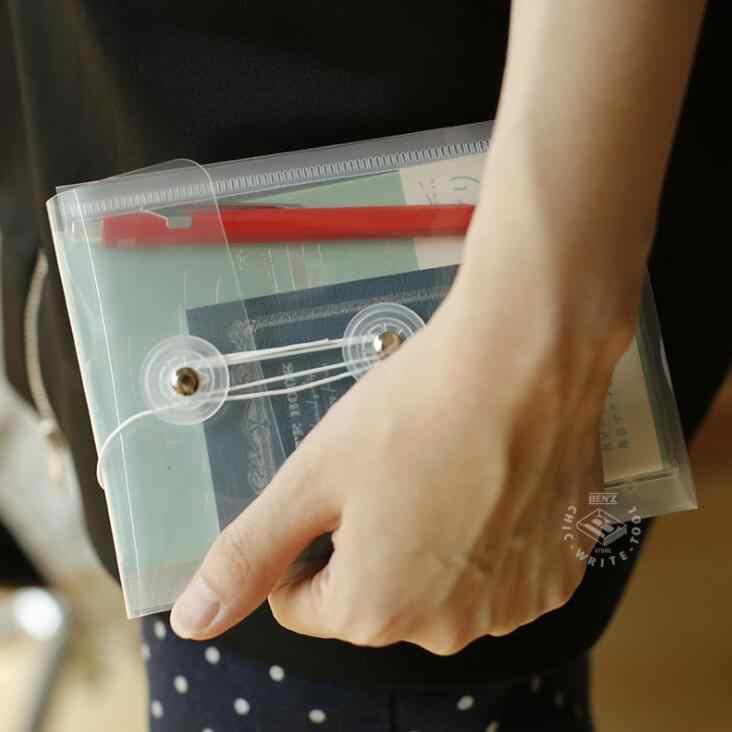 הגעה חדשה 5pcs שקוף Vinatge A6 A4 תיקיית קובץ נייר שקית אחסון שולחן עבודה ארגונית בית ספר משרד מכתבים