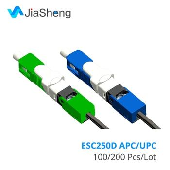 UNIKIT Free shipping FTTH ESC250D SC APC Single-Mode Fiber Optic New Model Optic Fast Connector 1