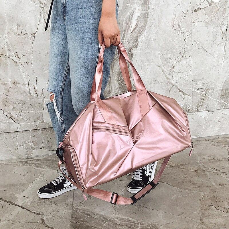 Lady Sport Bag BlackPink Color Sequins Shoulder Bags For Women Waterproof Handbag Portable 2019 Hot Sport Bag