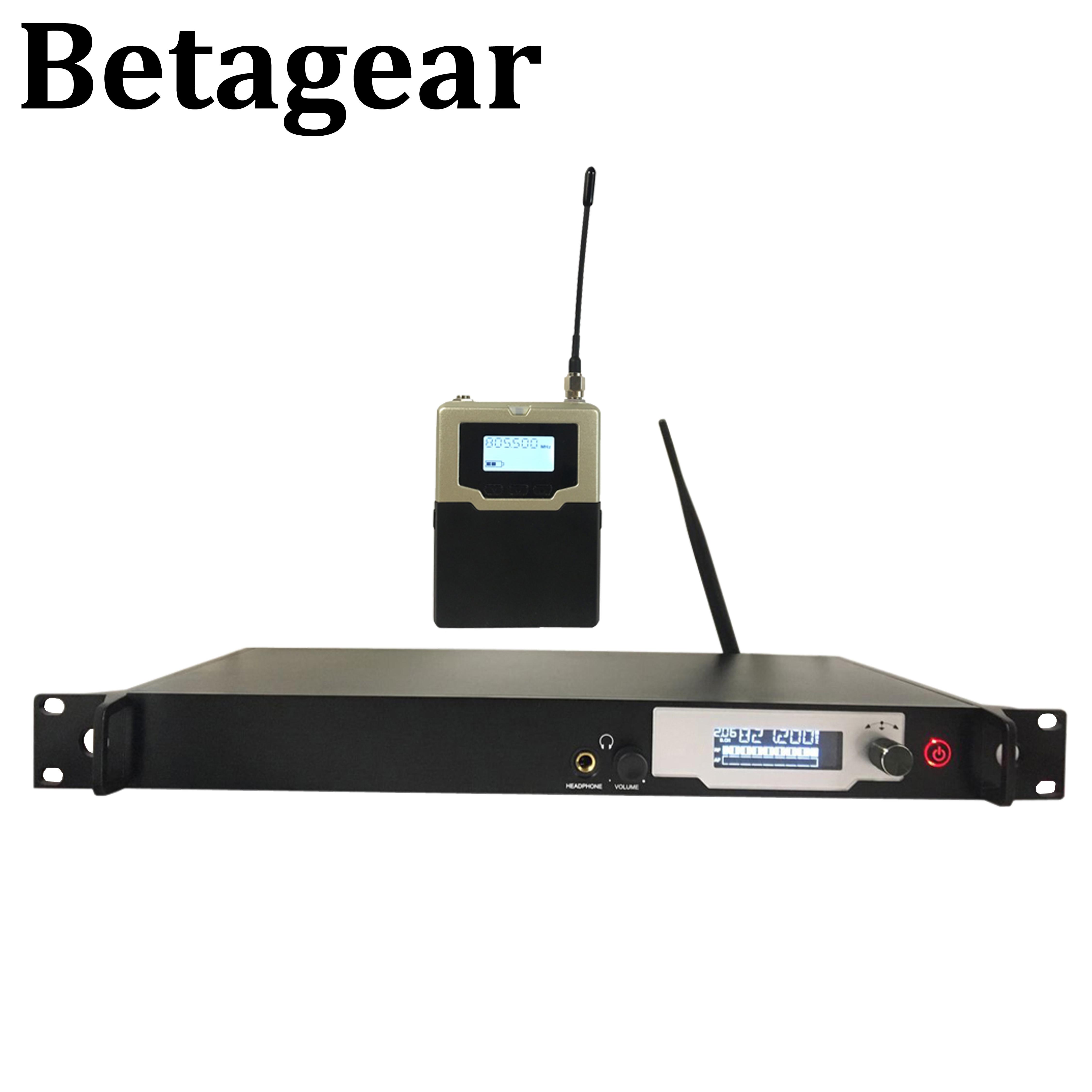 Betagear BK9200 in ohr-monitor-system drahtlose professionelle dj bühne 3 kopfhörer mono in ohr-monitor drahtlose