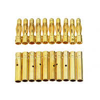 10Pair 4mm Gold-Plated Bullet Banana Socket Male Female Banana Connector Model Battery Plug