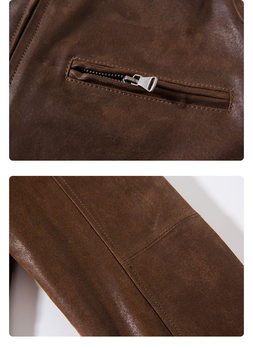 H718455f51dfa409f98b2c8ea78f5f6dad Men's Pigskin Real Leather Jacket Motorcycle Jacket Coat Men