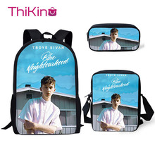 Thikin Troye Sivan Pattern 3Pcs Children Fashion School Bag for Girls Backpack Teen Boys Kids Book Bags