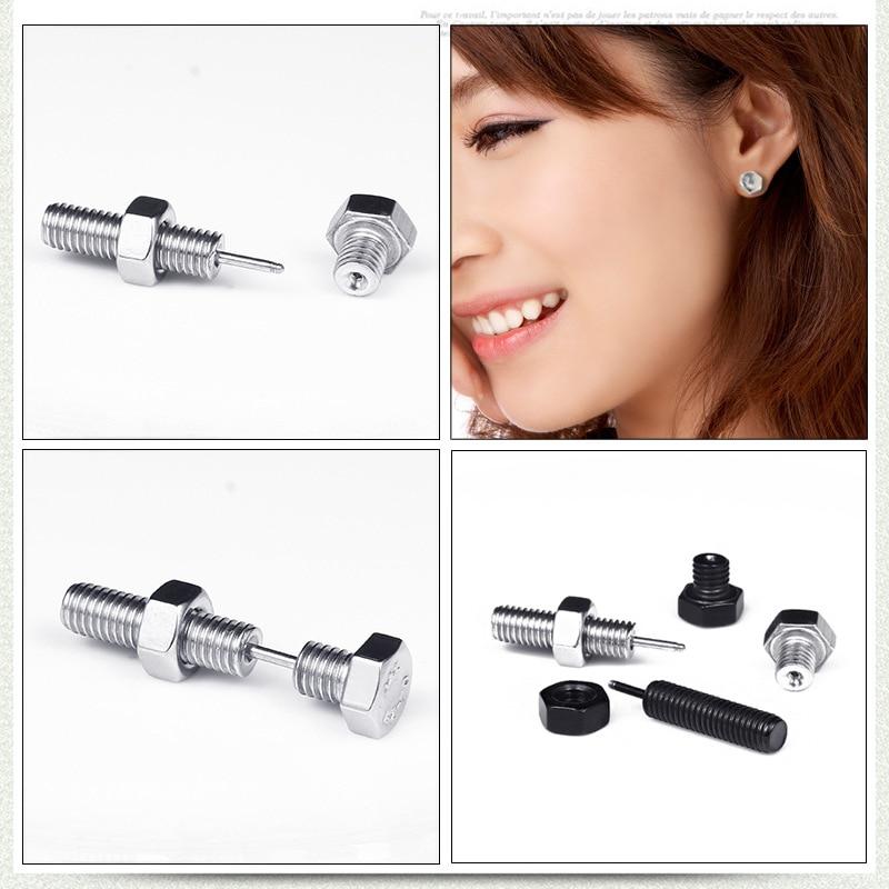 Funny Titanium Steel Stud Earrings for Women Men European and American Style Fashion Unisex Halloween Jewelry Screw Earring 2019