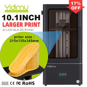 YIDIMU żywica SLA LCD 3D drukarki podeszwy większe 10 1 cal wysokiej prędkości 3D maszyna druk UV 3D Drucker podeszwy butów tanie i dobre opinie Falcon Pro CN (pochodzenie) 4 5-9 5 s layer 0 1-1mm English 405nm photosensitive resin CHITU 110-240V 140W 85um 110-220 V