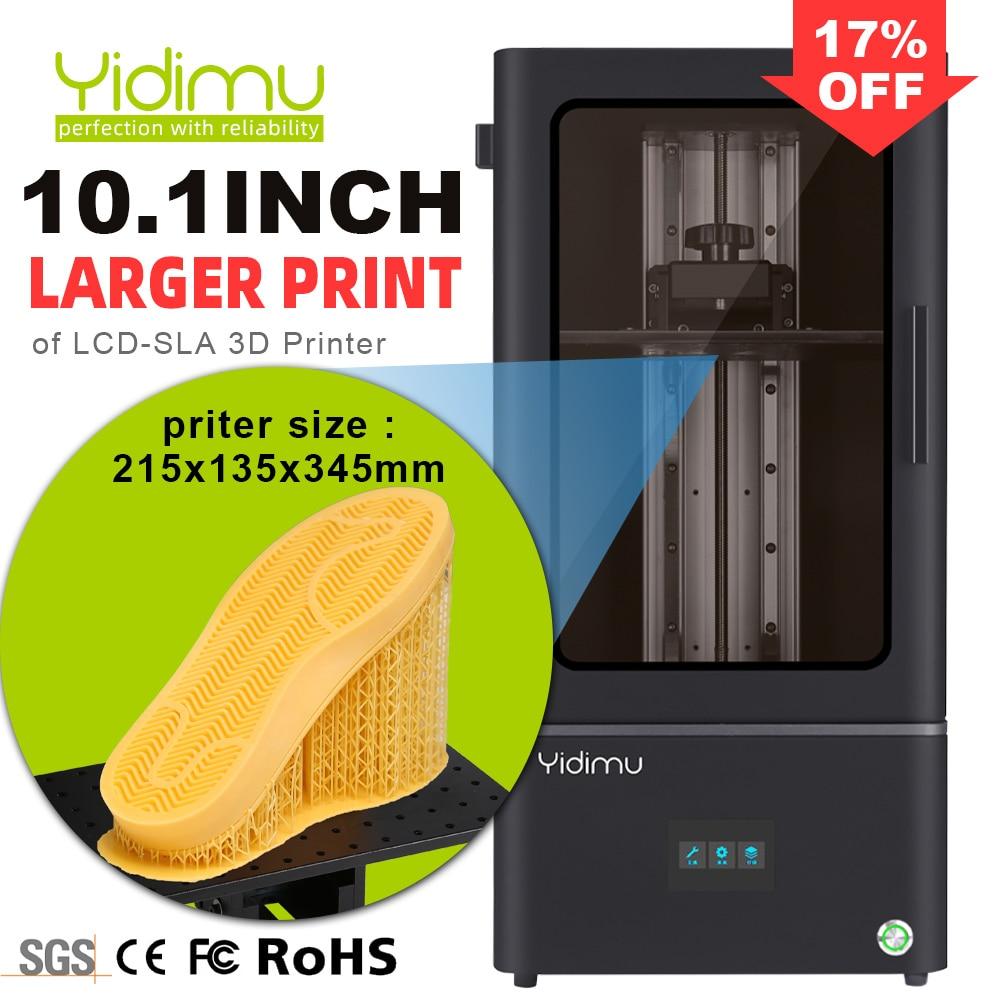 3D принтер YIDIMU 2K для смолы с ЖК-дисплеем, большая 10,1 дюймовая печатная машина для подошвы с УФ-печатью, 3D принтер для подошвы обуви